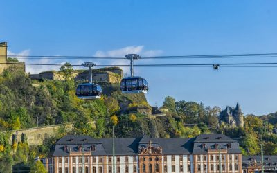 LOOP21 GmbH Germany equips the Rheinseilbahn with public Wi-Fi and security-system.