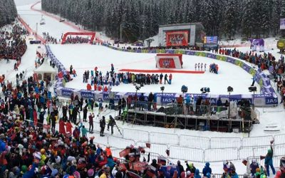 WLAN-Kommunikation beim Audi FIS Ski World Cup in Jasná