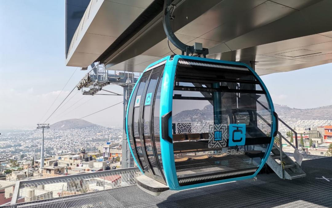 First section of the cable car network in Mexico City ready